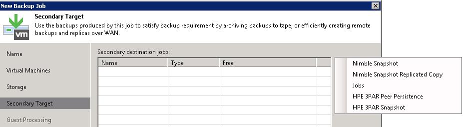 Backup from snapshot on target 3PAR – vNote42